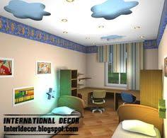 false ceiling design for kids room suspended clouds with hidden