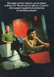 star trek greeting card get well captain kirk and ensign