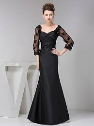 three quarter sleeve special occasion dresses