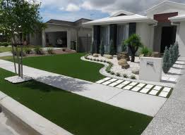 Landscaping Ideas For Front Yard by Synthetic Grass Front Yard Designs Landscape Yards Synthetic Turf