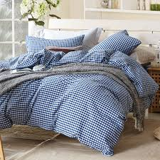 Paisley Single Duvet Cover Small Blue Plaid Duvet Cover Sets For Single Or Double Bed 100