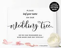 tree signing for wedding wedding tree sign etsy