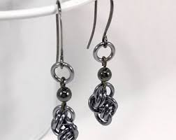 lightweight earrings sensitive ears black drop earrings etsy