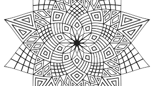 design coloring pages designs print color geometrip free