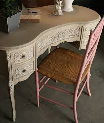 Kidney Shaped Writing Desk by Reloved Rubbish Kidney Shaped Vanity In Country Grey