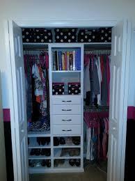 modest decoration very small closet organization easy organizer