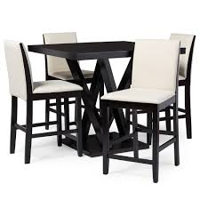 Pub Table Set Everdon Dark Brown 5 Piece Modern Pub Table Set Affordable