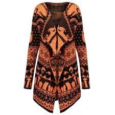 Draped Cardigan Sweater Black Orange 5xl Halloween Plus Size Skull Sweater Drape Cardigan