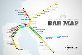 Map Of Oakland The First Ever Bart Bar Map Bay Area San Francisco And Bar