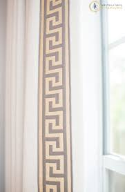 greek key trim on solid curtains it u0027s all in the details