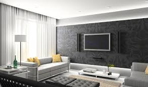 mural blue grey wallpaper perfect blue and grey living room