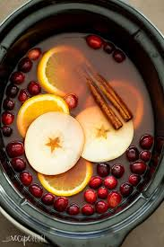 crock pot cooker cranberry apple cider easy recipe