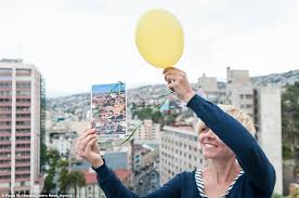 send a balloon paula butlewska sends postcards by balloon to late from