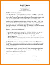 Sales Associate Cover Letter by Cover Letter U2013 Riobrazil Blog