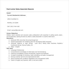 Sample Of Resume For Sales Associate by Sample Sales Associate Resume 8 Free Documents In Pdf Doc