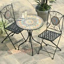 Side Patio Table Mosaic Patio Table Chairs And Table Patio Set Awesome Metal