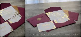 burgundy wedding invitations burgundy and gold foil wedding invitation suite southern