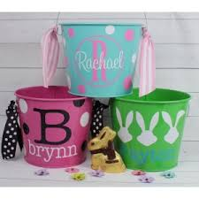 personalized easter buckets easter buckets and baskets and gifts