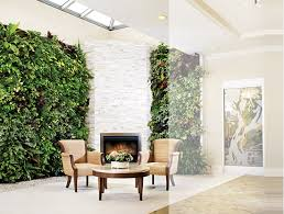 adding vertical gardens to the fireplace wall would be another