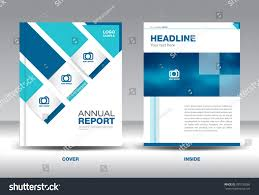 Newspaper Book Report Template Blue Annual Report Template Brochure Flyer Stock Vector 395700286