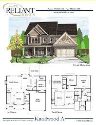 sle floor plans 2 story home reliant homes the knollwood a plan floor plans homes homes