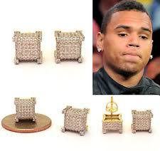 diamond earrings on guys mens diamond earrings ebay