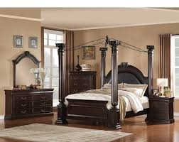 Poster Bedroom Set Elegant Design Solid Wood Brand New Quee - Dark wood queen bedroom sets