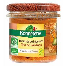 cuisiner poivron tartinades de légumes trio de poivron 135gr bonneterre acheter