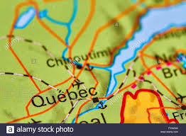 Canada On A Map by Quebec City In Canada On The World Map Stock Photo Royalty Free
