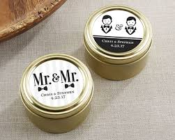 personalized mr and mr gold tins set of 12 my