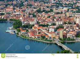 Lake Como Italy Map Lecco Lake Como Italy Stock Photo Image 82007867