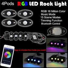 app controlled car lights 4x pod rgb led car atmosphere neon lights wireless phone app control