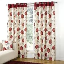 Floral Lined Curtains Floral Curtains Modern Floral Trail Print Lined Eyelet