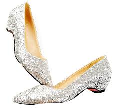wedding shoes low heel 15853338702 pointed toe sliver glitter low heel wedding shoes 8 10091916535044175 jpg