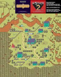 Yahoo Maps Com Mother 2 Happy Happy Village Super Nintendo Snes Map