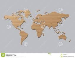 Vector World Map Vector World Map Brown Cardboard Stock Vector Image 45818375