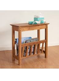 Chair Side Table With Storage Narrow Side Table With Magazine Rack A Modern Stylish Storage