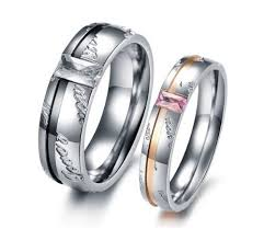 matching titanium wedding bands buy his hers matching set titanium steel wedding band ring his