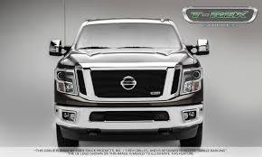 nissan white truck t rex nissan titan billet series 3 pc insert main grille w
