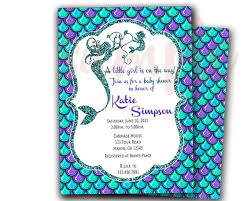 the sea baby shower invitations mermaid baby shower invitations wblqual