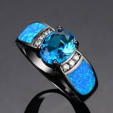 blue opal engagement rings blue opal engagement ring the rings within opal engagement rings