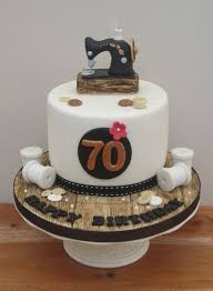 sewing themed 70th birthday cake cake by the buttercream pantry