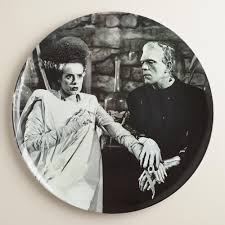 Vintage Halloween Plates by They U0027re Alive Our Exclusive Round Frankenstein U0027s Monster And