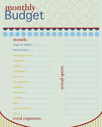 Spreadsheet For Monthly Expense Spreadsheet For Your First Apartment Free Budget