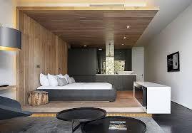 chambre deco bois déco de chambre moderne avec meubles et surfaces en bois