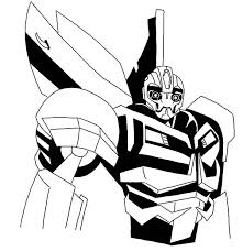 Transformer Robot Bumblebee Car Coloring Pages Best Place To Color Transformer Color Page