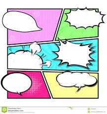 comic template vector pop art stock vector image 37866459