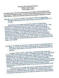 Sample Of Short Resume by Digital Thesis Sample Of Review Of Related Literature In Research
