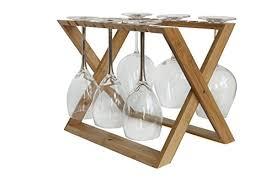 amazon com bamboo hangover wine glass rack foldable countertop