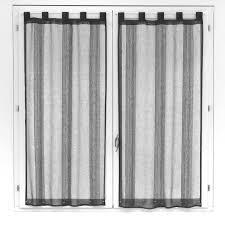 voilage fenetre chambre paire de voilages pour fenêtre gris 60x120cm